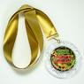 """Медаль """"Победившему коронавирус"""" с золотой лентой. (артикул 925711819)"""