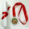 """Медаль и диплом """"За честное соблюдение карантина"""" с золотой лентой. (артикул 925811820)"""