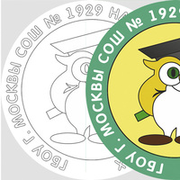 Восстановление утраченной эмблемы или герба школы. Услуги дизайнера.