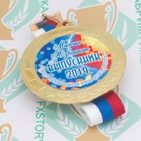 Медаль выпускника детского сада 70 мм. Металл (артикул 868911247)