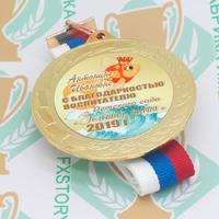 Медаль выпускника детского сада 70 мм. Металл (артикул 870111259)