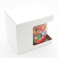 Коробка с окошком для новогодней кружки. (артикул 63918295)
