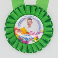 Розетка-медаль наградная, с фото, зеленая. (артикул 70099035)
