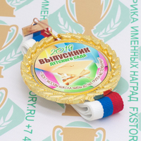 Медаль выпускника детского сада Premium70. Металл (артикул 883011388)