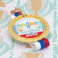 Медаль выпускника детского сада Premium70. Металл (артикул 876511323)