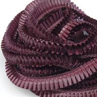 Лента плиссированная для наградных розеток. Цвет Бордовый (6А). 5 м.х 25 мм. (артикул 927111833)