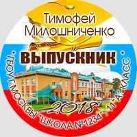 Вставка в кубок Выпускника 9-11 класс (артикул 74739762)