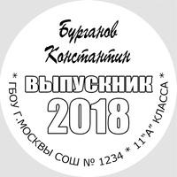 Вставка в кубок Выпускника 9-11 класс (артикул 74839772)