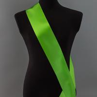 Лента наградная без розетки. Цвет зеленый.