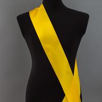 Лента наградная без розетки. Цвет желтый.