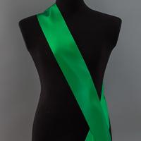 Лента наградная без розетки. Цвет зеленый-папоротник.