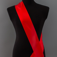 Лента наградная без розетки. Цвет ярко-красный.