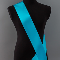 Лента наградная без розетки. Цвет голубой.