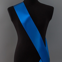 Лента наградная без розетки. Цвет синий.