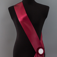Лента наградная с розеткой. Цвет бордо
