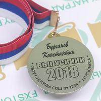 Медаль Выпускник 9-11 класса, двухсторонняя (артикул 73759542)