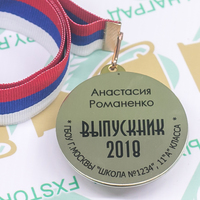 Медаль Выпускник 9-11 класса, двухсторонняя (артикул 73749540)