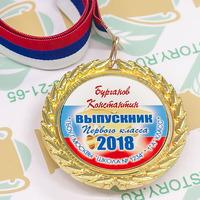 Медаль Выпускник 1 класса премиум, именные, металл. (артикул 773610170)