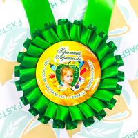 Розетка-медаль наградная, именная, розовый. (артикул 76029981)