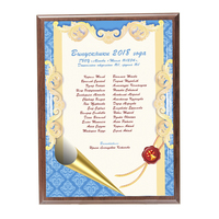 "Плакетка ""Список выпускников"" (артикул 68598797)"